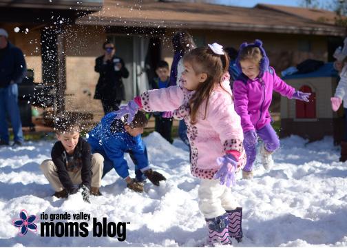 Snow flying everywhere!