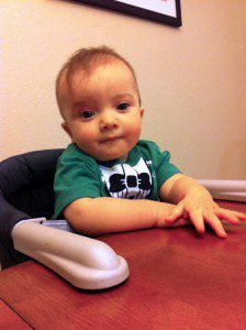 Lorenzo in high chair