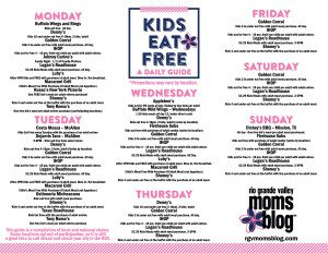 RGVMB Kids Eat Free January 2015 :: RGV Moms Blog
