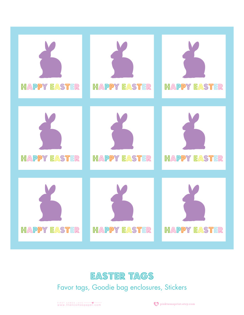 image relating to Printable Easter Tags referred to as Easter Printables - Down load and Print