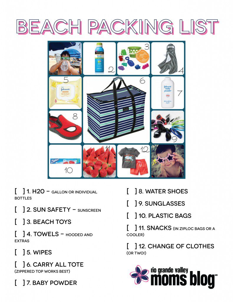 Beach checklist RGV Moms Blog-01