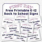 FREE Printables :: First Day of School 2014