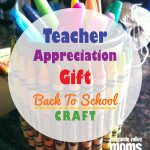 Crayon Craft for Teacher Gifts