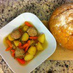 Chicken Meatball and Veggie Soup