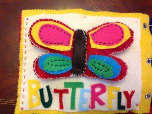 Quiet book butterfly