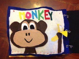 Quiet book monkey