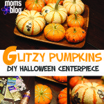 Glitzy Pumpkins :: DIY Halloween Centerpiece (Low Budget, High Impact)