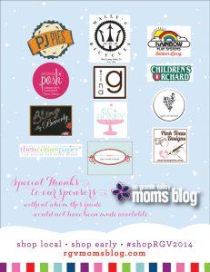 2014 Holiday Gift Guide :: Sponsor Thanks :: RGV Moms Blog