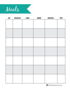 Printable Meal Planner :: Get Organized with RGV Moms Blog