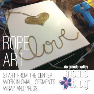 A LOVE-ly Gift for My Valentine :: Rope Art by RGV Moms Blog