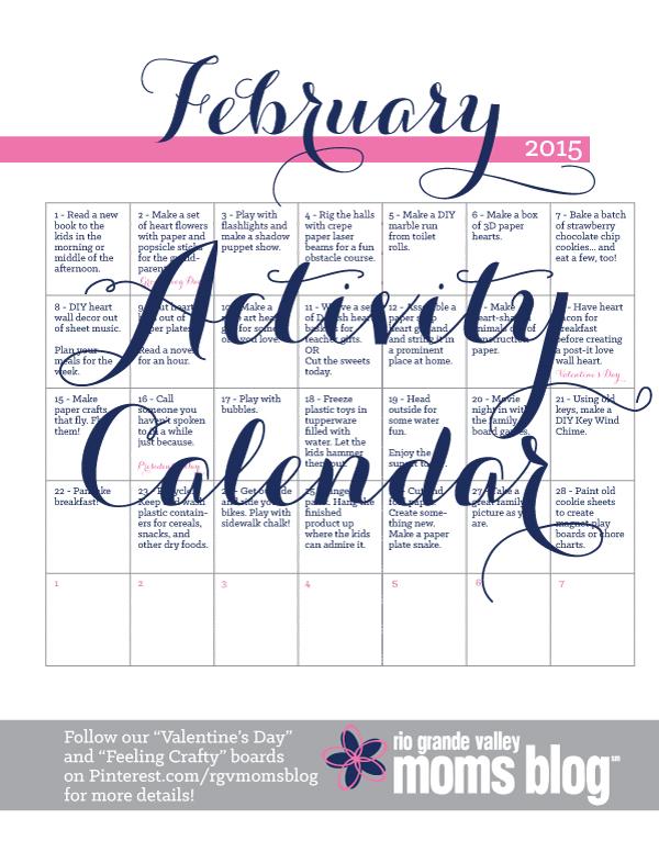 Activity calendar February 2015 :: RGV Moms Blog