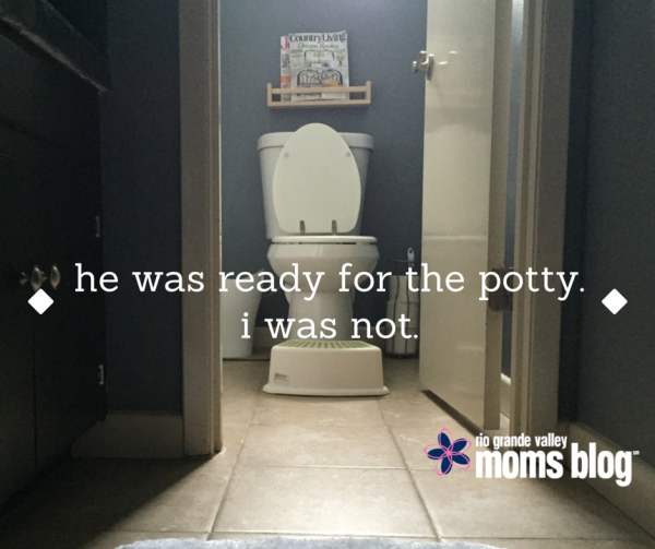 He Was Ready for the Potty. I Was Not. Potty Training Number Two. RGV Moms Blog