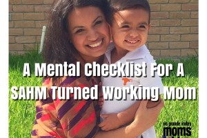 Transitioning from SAHM to Working Mom
