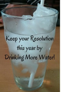 my resolution is drinking more water