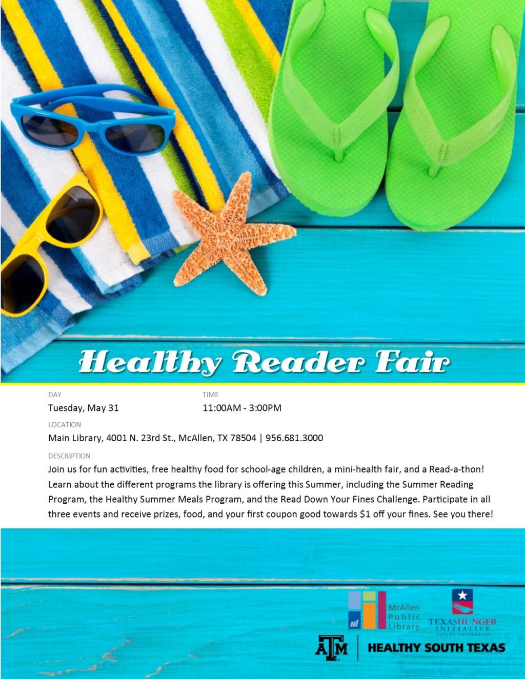 healthy reader fair McAllen Public Library