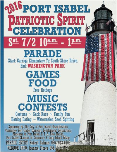 Port Isabel Patriotic Spirit Celebration 2016 4th of July