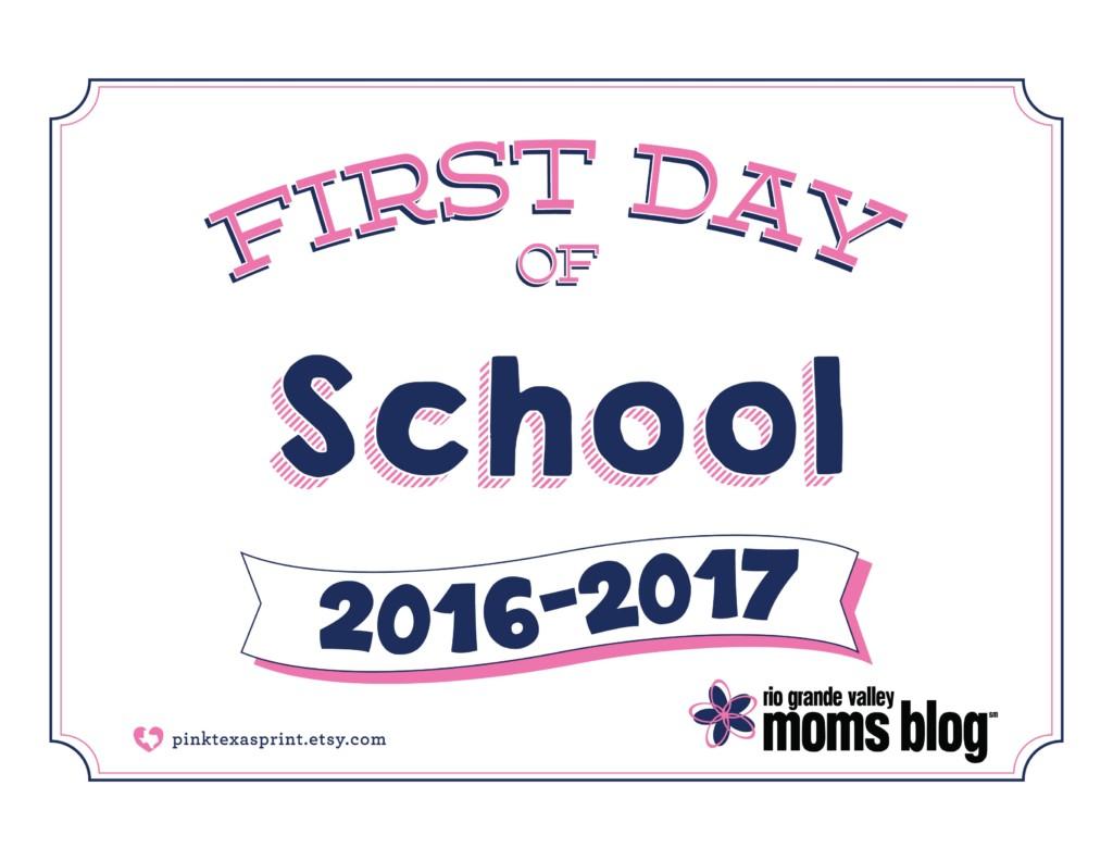 Printable Back to School Sign 2016