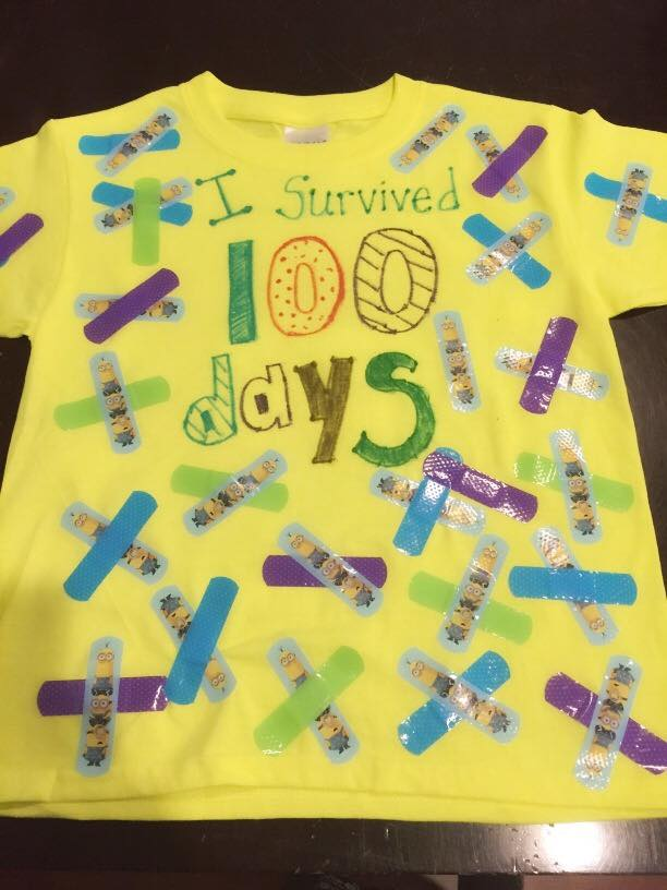 100 Days of Bandaids Shirts for School