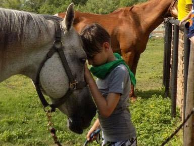 Big Reds Ranch Kid with Horse