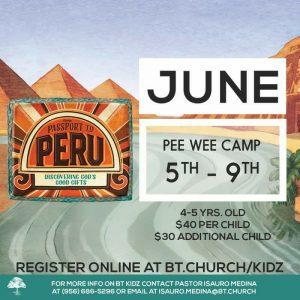 PeeWee Camp Baptist Temple Church VBS McAllen, RGV