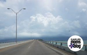 Queen Isabella Causeway as Harvey Rolled In - Rio Grande Valley Moms Blog