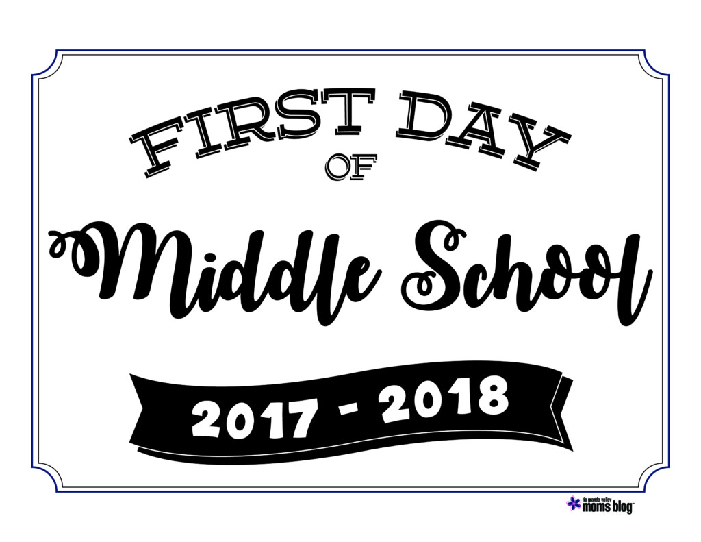 Back to School Printable Signs 2017 – First Day of School Worksheet