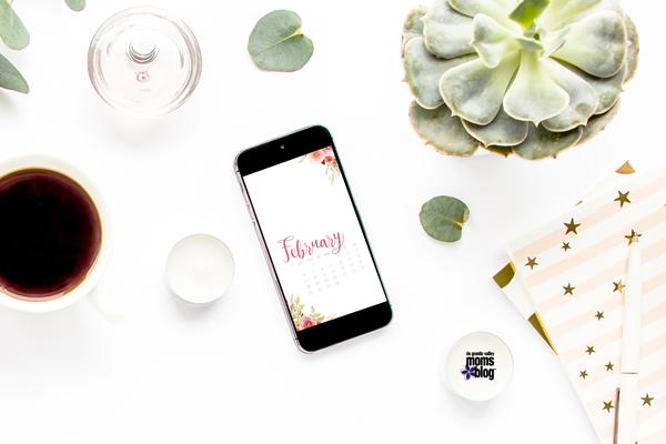 February Phone Calendar and Screensaver