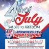 July 4th Salute to Freedom Brownsville