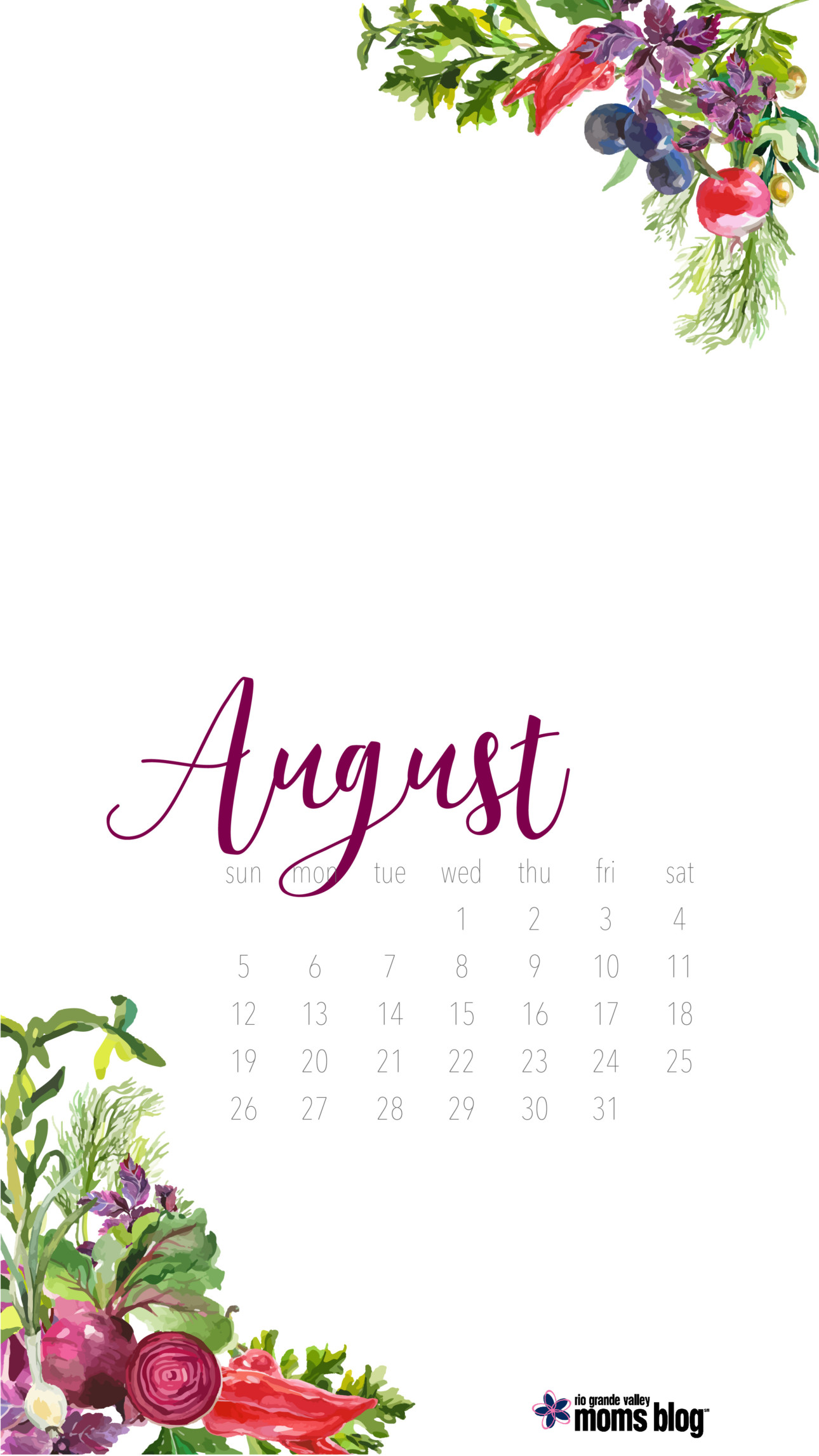RGVMB August 2018 Cell Phone Wallpaper
