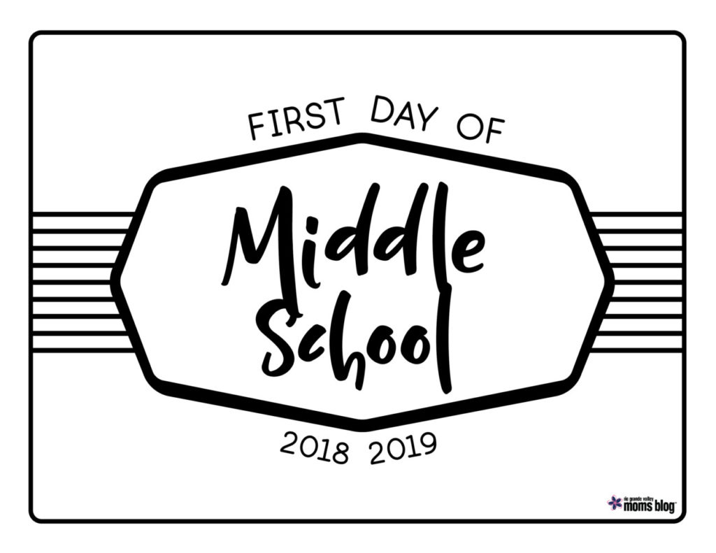 RGMV Back to School Signs 2018-Middle School