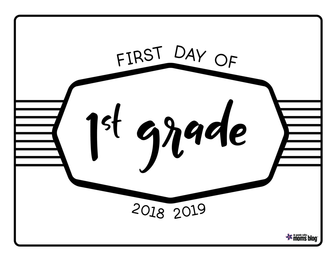 graphic regarding First Day of 1st Grade Printable known as Back again in direction of College or university Printable Indicators 2018