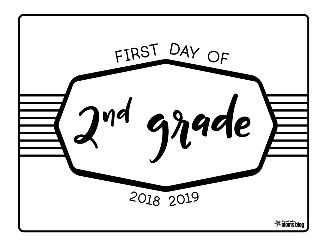 graphic regarding First Day of Second Grade Printable Sign called Back again in direction of College Printable Indicators 2018