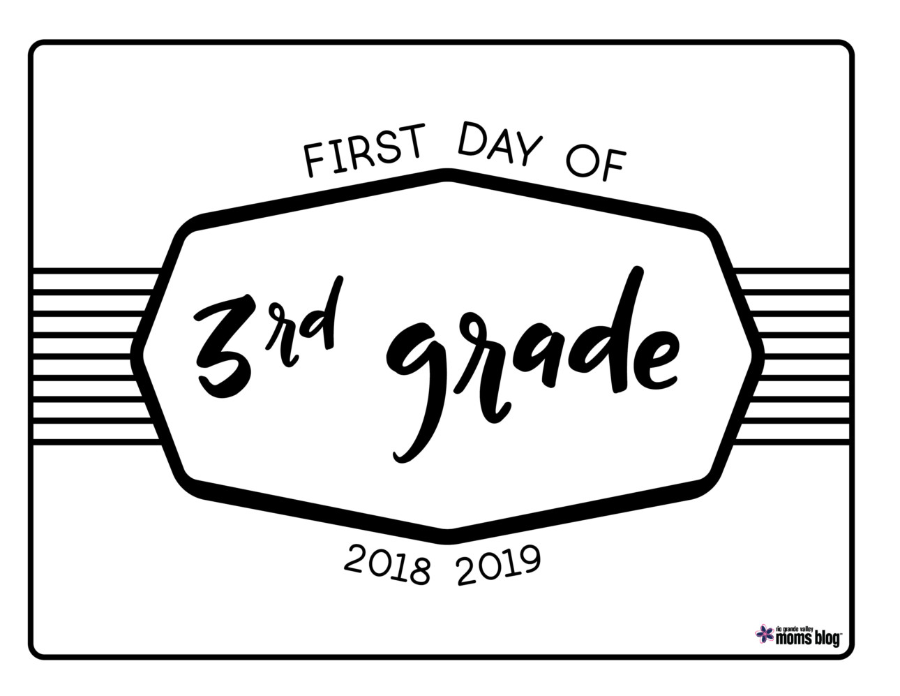 picture relating to First Day of 3rd Grade Sign Printable known as Back again toward College or university Printable Signs and symptoms 2018