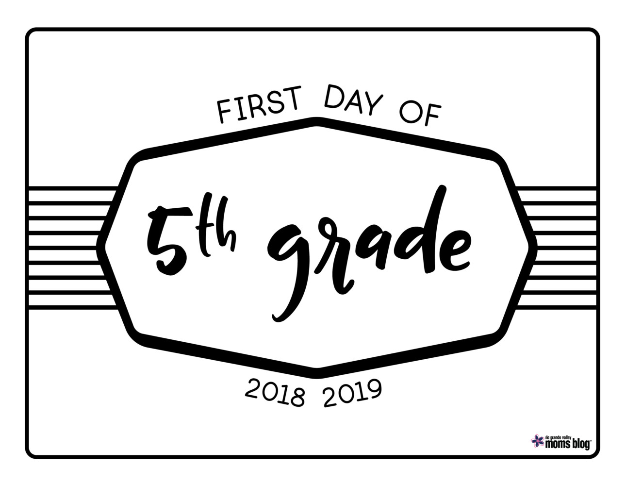 image relating to First Day of 5th Grade Printable named Back again toward Higher education Printable Symptoms 2018