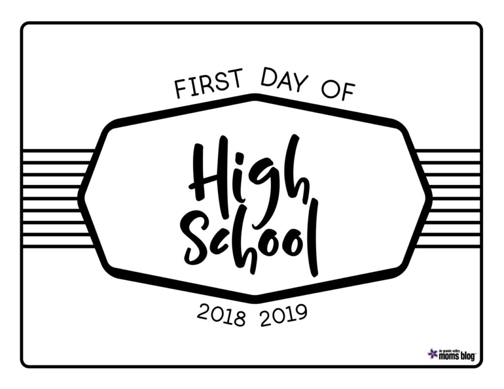 RGVMB Back to School Signs 2018-High School