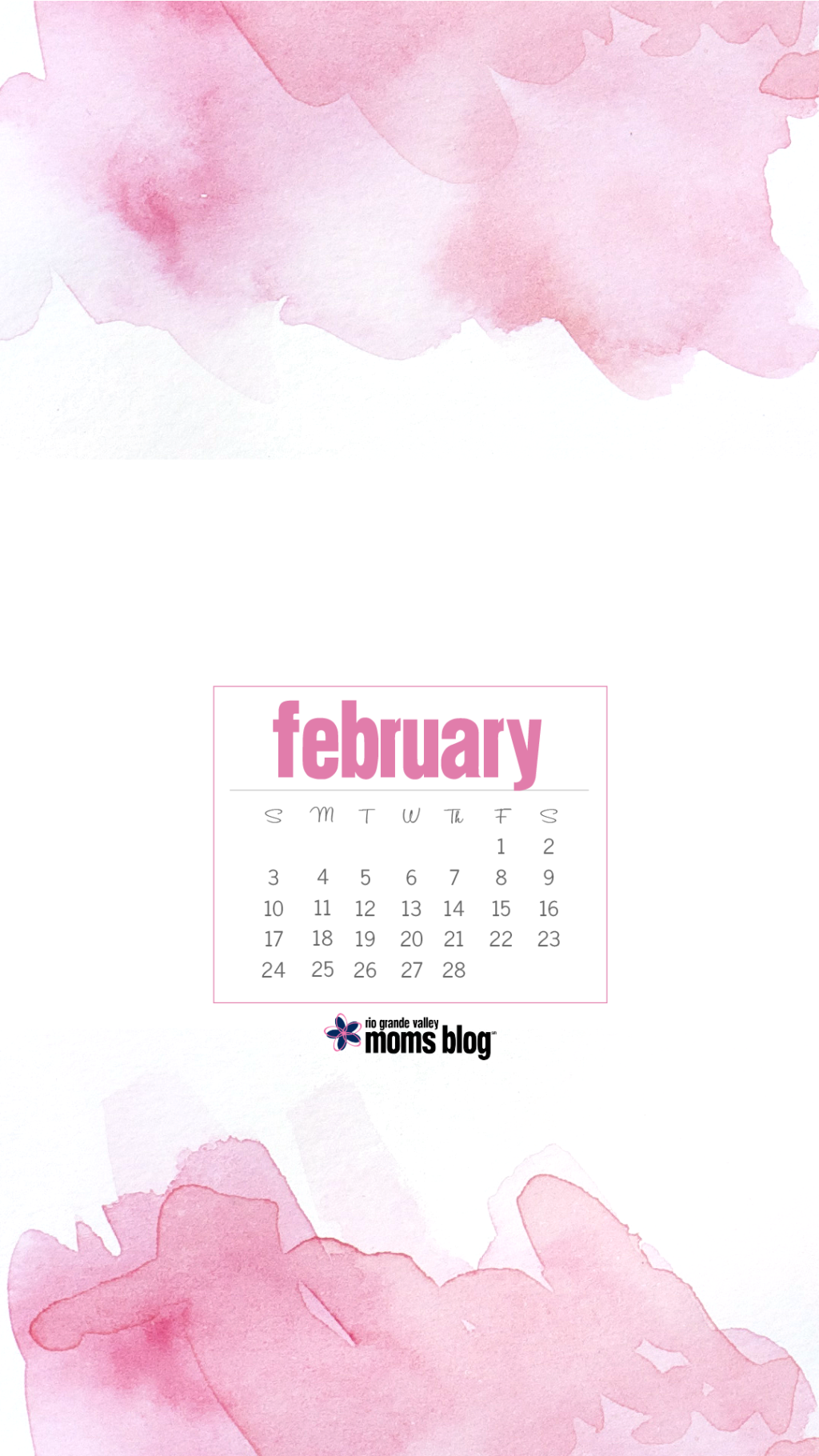 February 2019 - Calendar - Watercolor