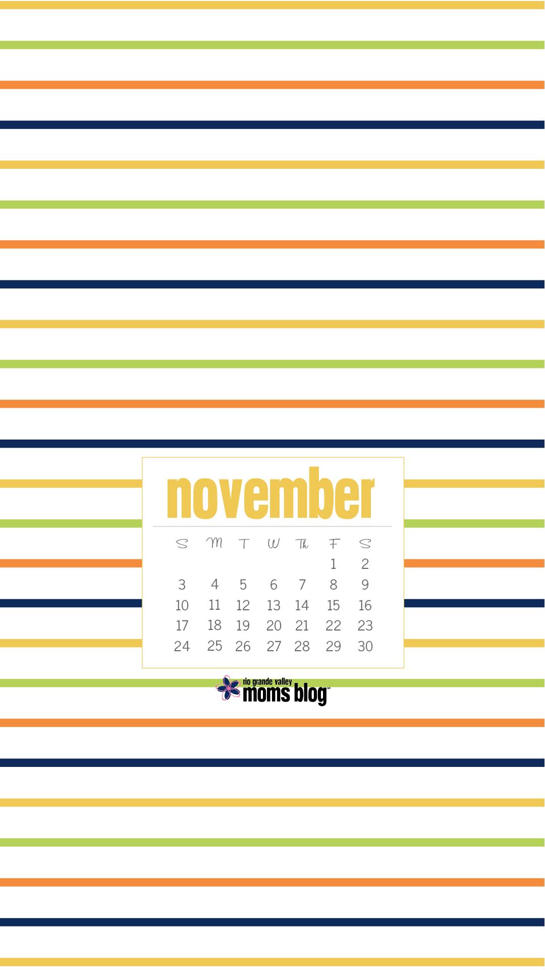 RGVMB November 2019 - Calendar - Stripes